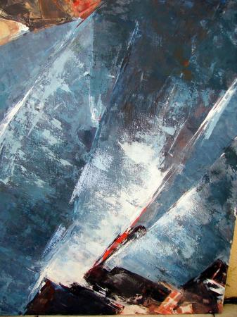N.1-Pli bleu-acryl.toile-70/60cm-2004