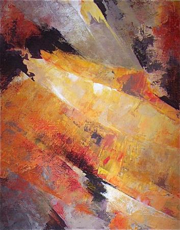 N.2-Pli jaune-acryl.toile-70/60cm-2004