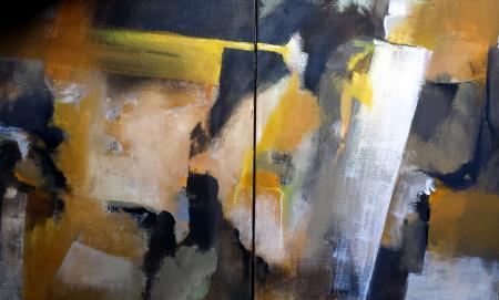 N.38-Trait jaune-dipt.-acryl.toile-54/130cm-2014